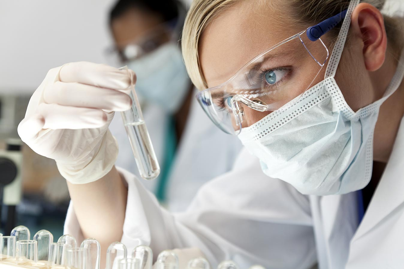 Scientist Testing Organics